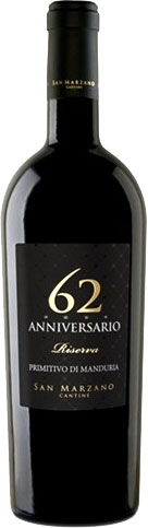 San Marzano - 62 Anniversario Primitivo Manduria Riserva 2016 Magnum Magnum 1.5lt